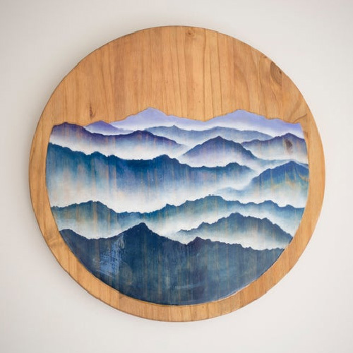 Oil Paint Art on Wood