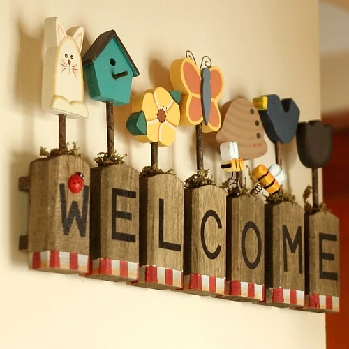 Wood Words Home Decoration Wall