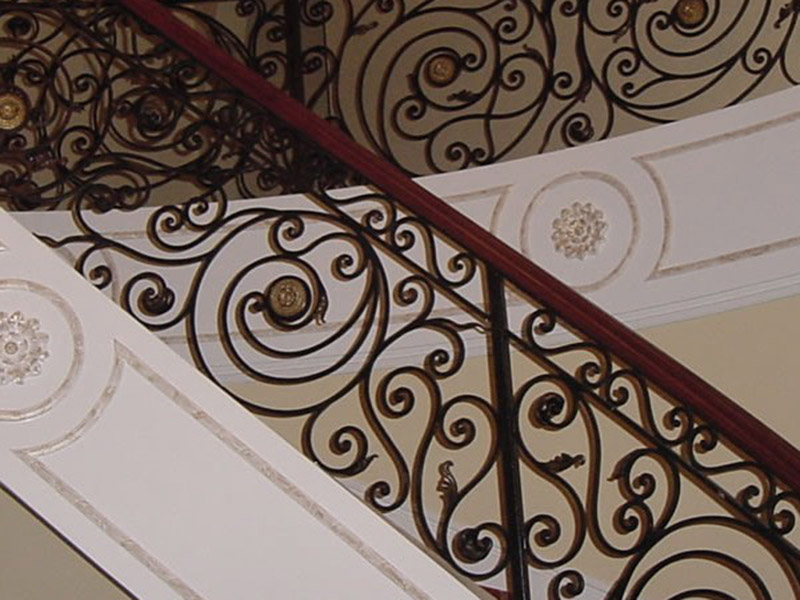 Interior Iron Railing Design