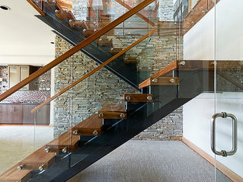 Wood And Glass Railing