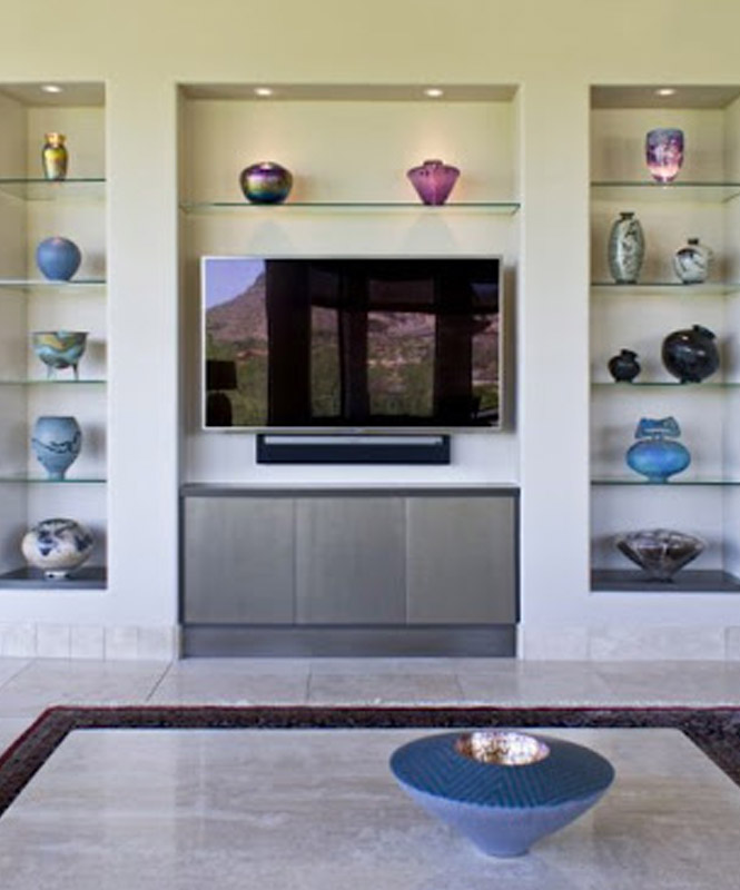 Creative Wall Niches for Living Room