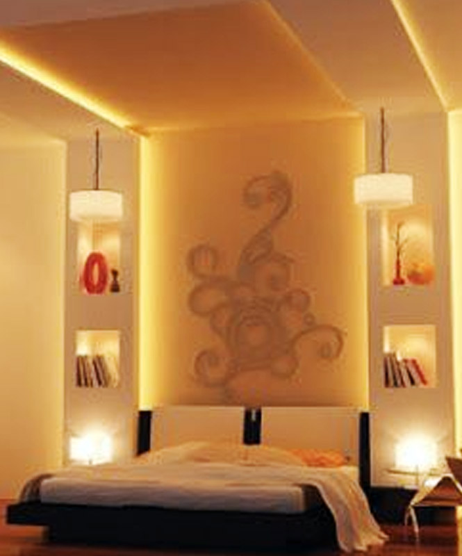 Modern Bedroom Wall Niches Design