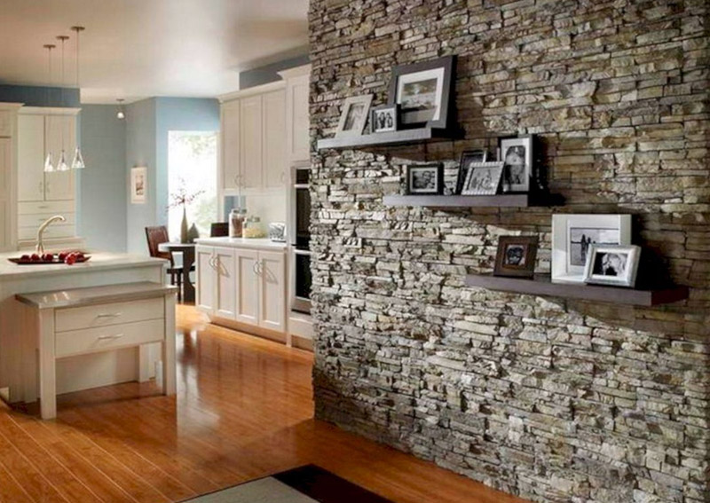Rock Wall Design For Kitchen