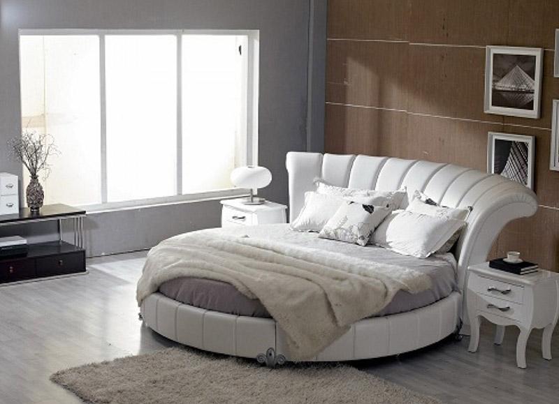 White Round Bed