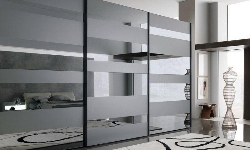 Mirrored Glass Wardrobe Design