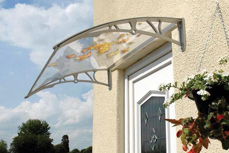 Transparent Door Canopy