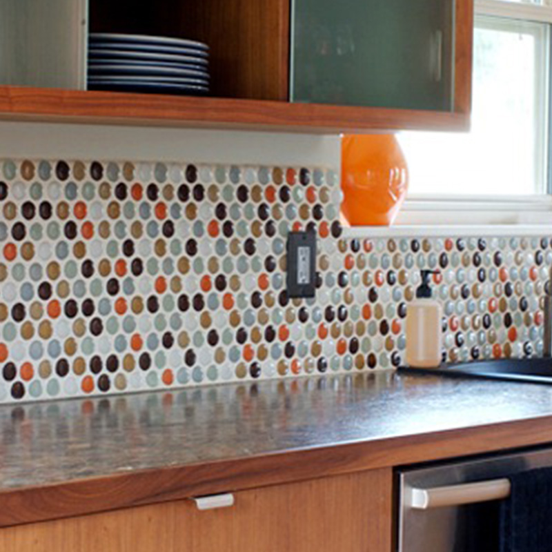 Kitchen Backsplash Round Tiles