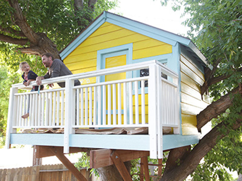 Painted Treehouse