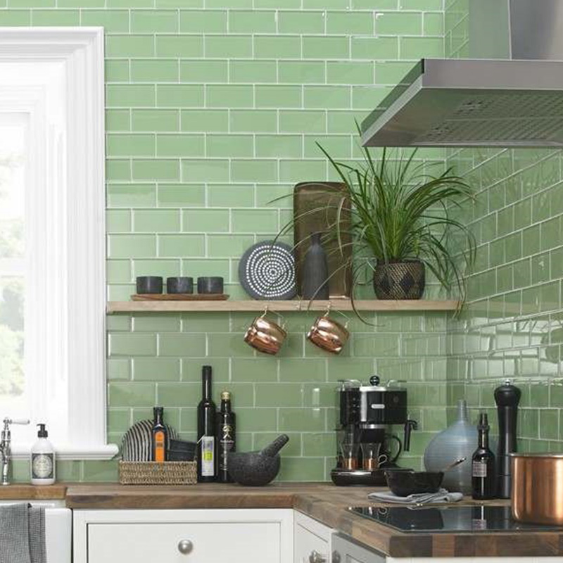 Parrot Color Kitchen Tiles