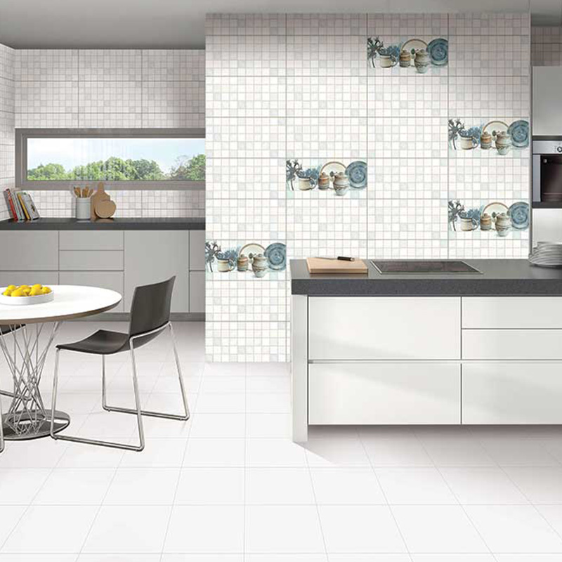 White Dots Kitchen Tiles