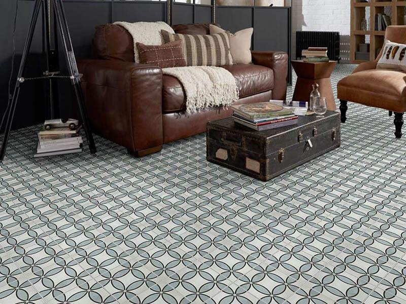 Agate Floor Tiles Living Room Design