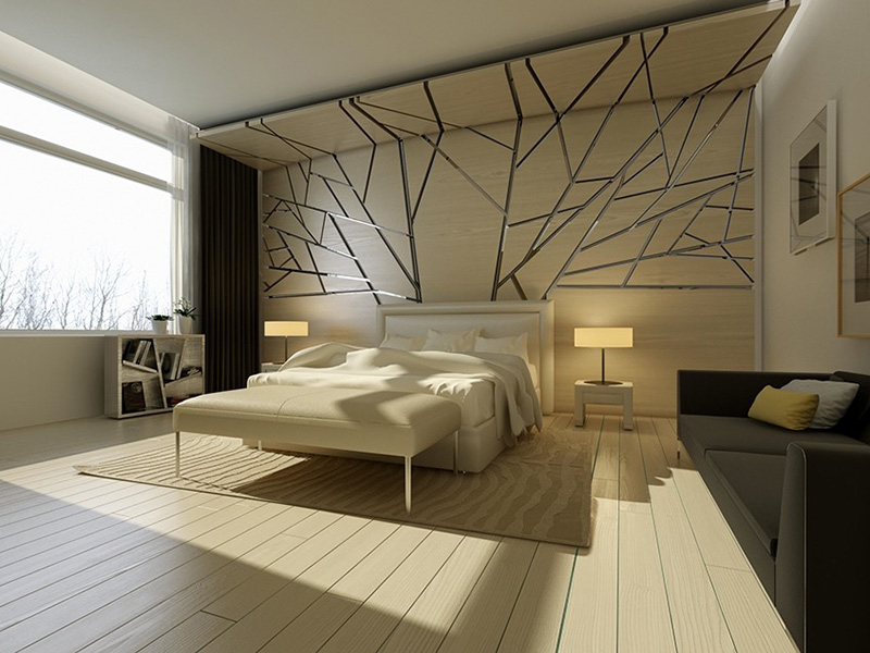 Bedroom Feature Wall Texture Style