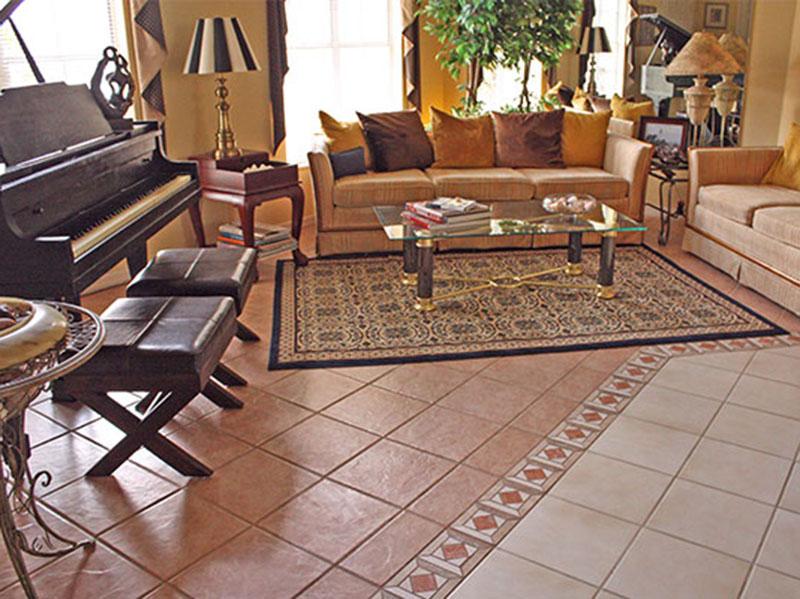 Ceramic Floor Tiles Uniqe Livingroom