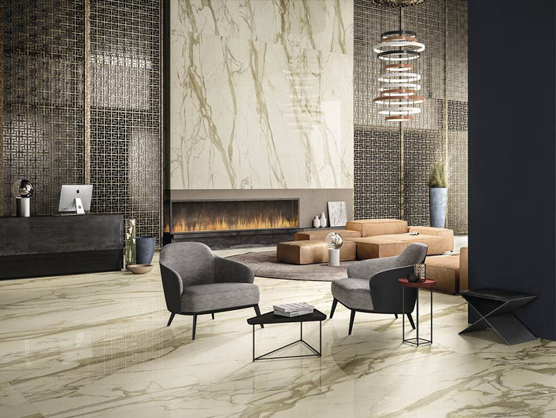 Classic Design Marble Wal Tiles Livingroom