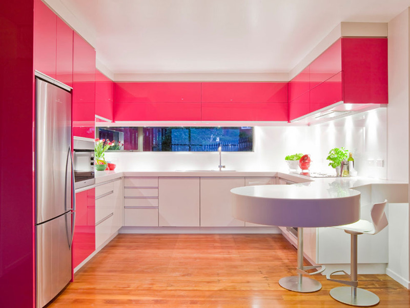 Colored Kitchen Cabinet