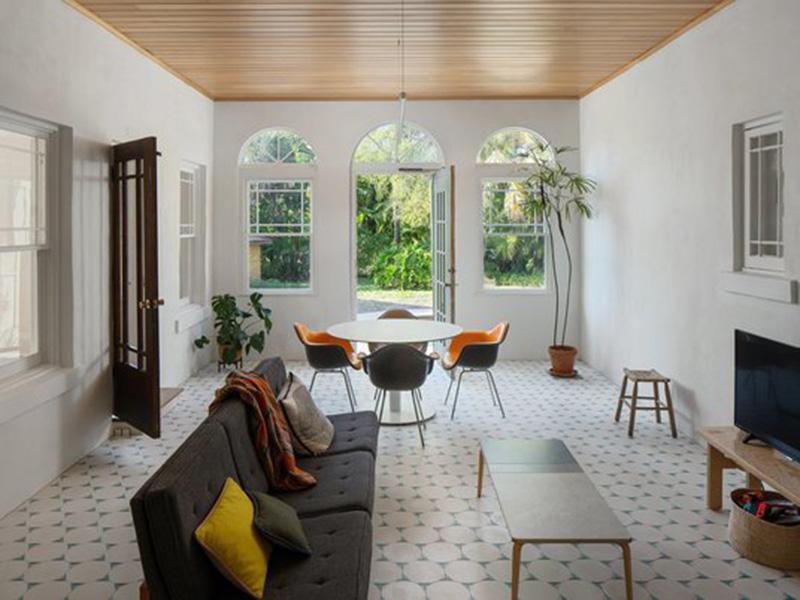Floor Tiles In Living Room