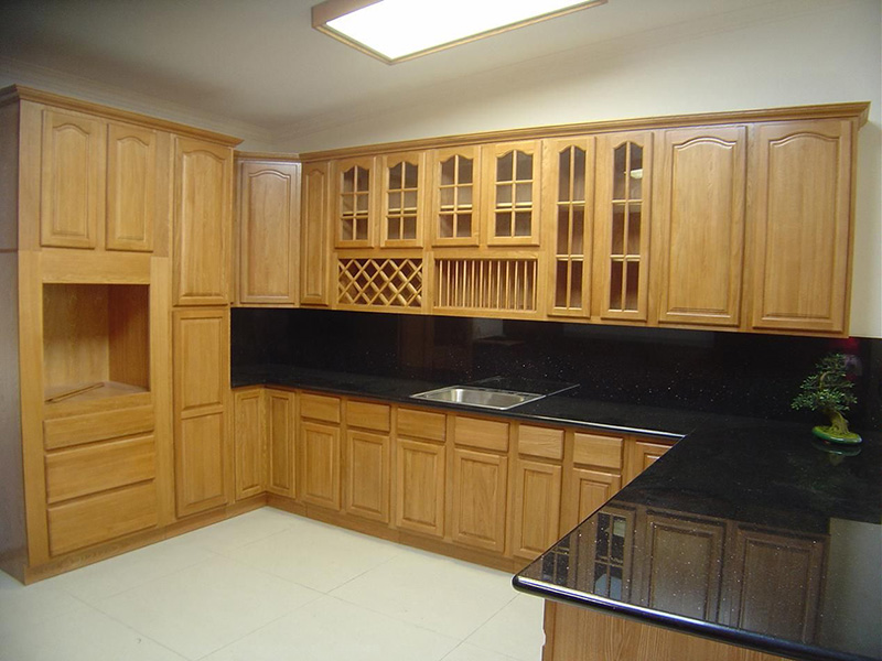 Light Brown Wood Cabinet Kitchen