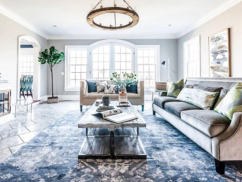 Modern Floor Ceramic Tiles In Living Room