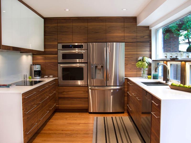 Modern Prety Kitchen Cabinet Of Wood