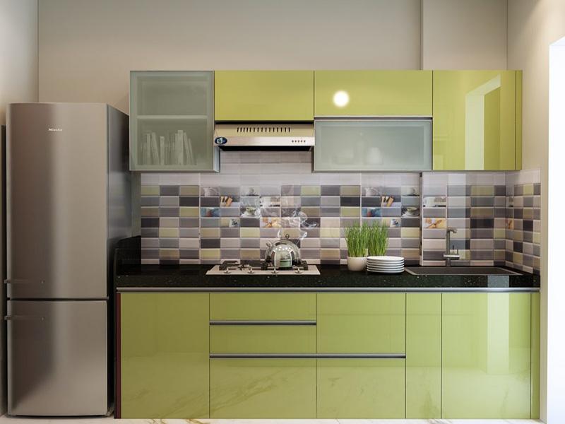 Olive Green Color Cabinet