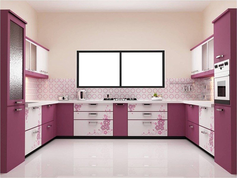 Purple Design Kitchen Cabinet