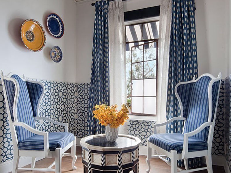 Spanish Wall Tiles In Livingroom