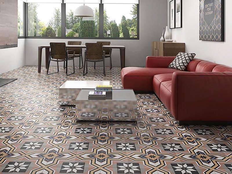 Victorian Floor Living Room Tile