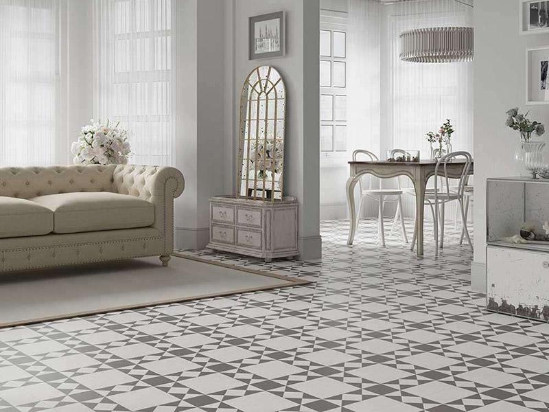 Victorian Tiles Livingroom Floor