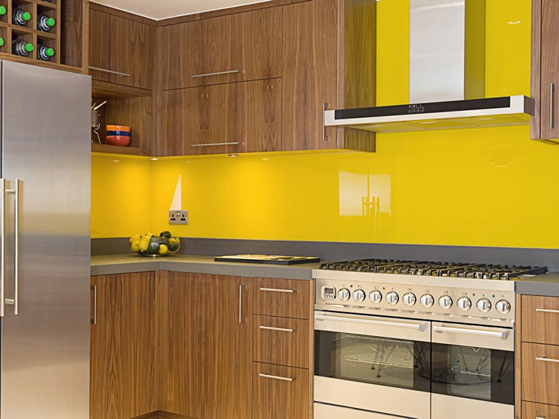 Yellow And Brown Cabinet