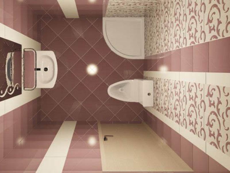 3d Ceramic Tiles Design For Bathroom Pink