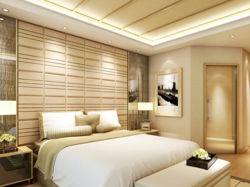 Decorative Wpc Wall Panels In The Bedroom