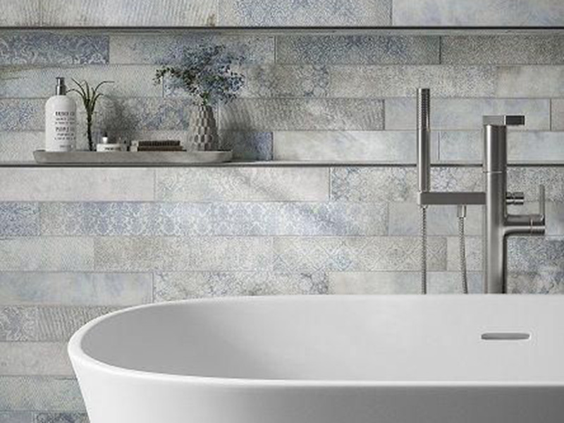 Florence Blue Wall Tiles In Bath Room