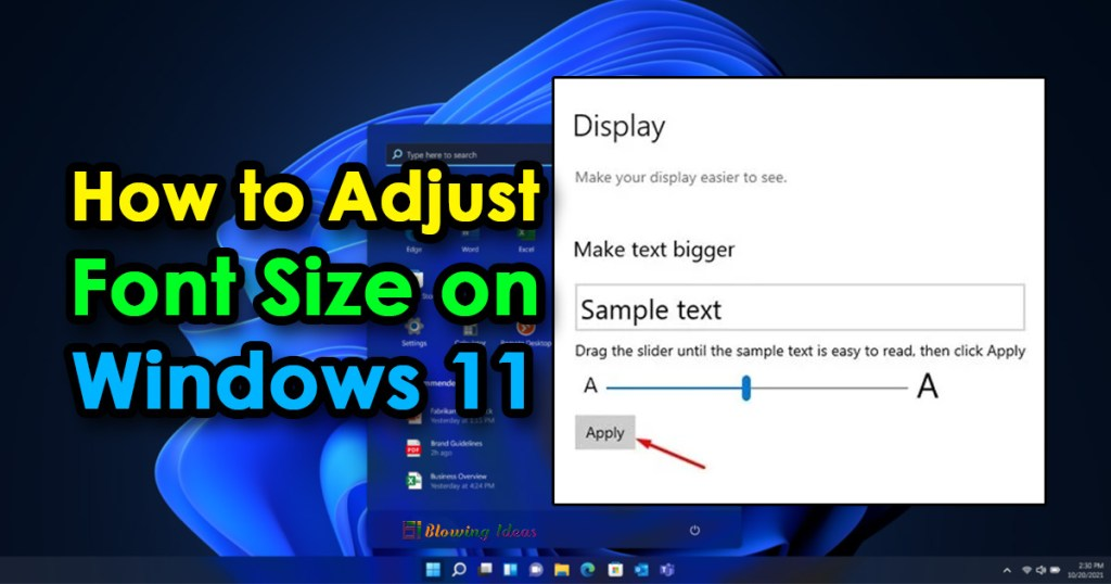 How To Adjust Font Size On Windows 11