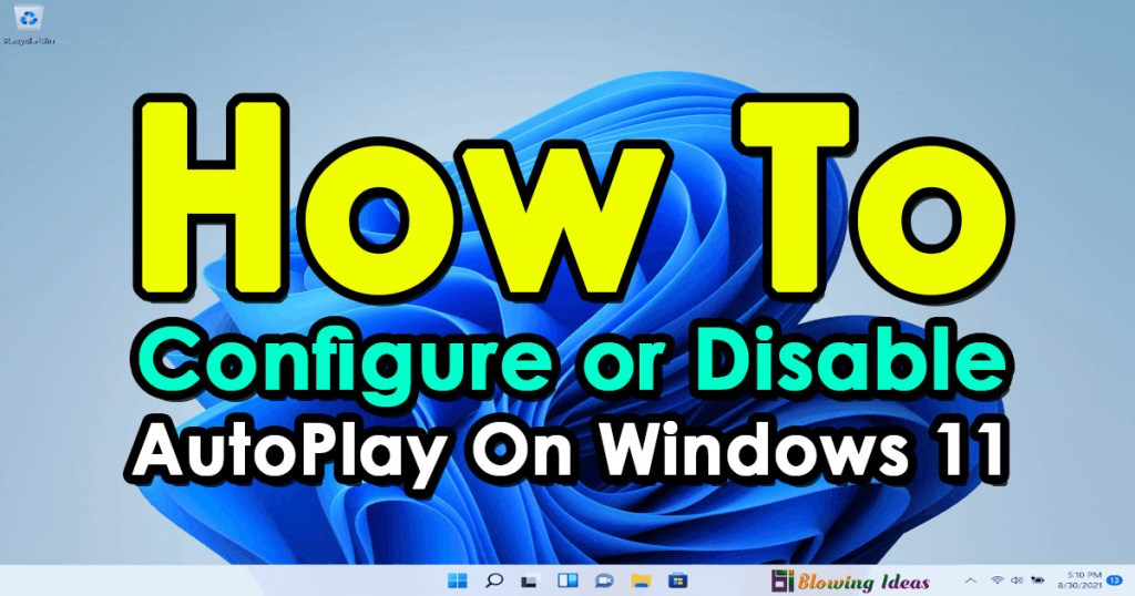 How to Configure or Disable AutoPlay On Windows 11
