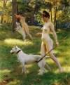 Julius_Leblanc_Stewart_Nymphs_Hunting_1898