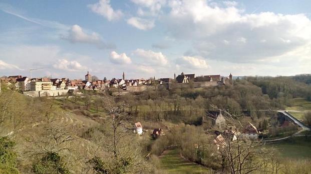 Mit Doxi in Rothenburg ob der Tauber