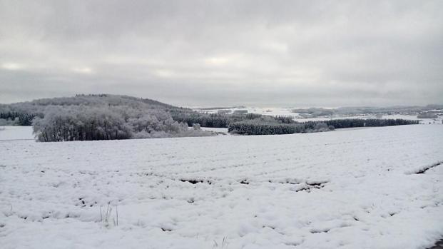 Schneewanderung in der Eifel bei Blankenheim