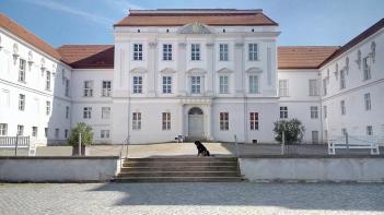 Schloss mit Schlosshund