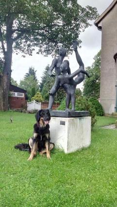 Skulptur an der Martinskirche
