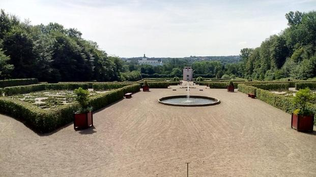 Die Sichtachse des Parks vom höchsten Punkt aus