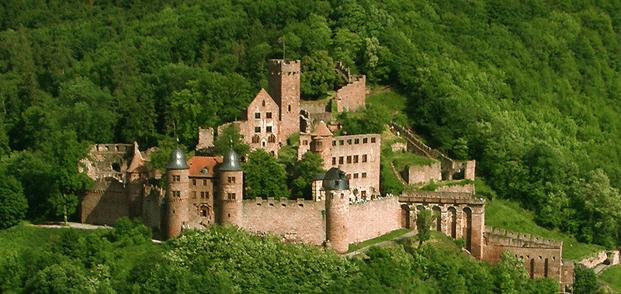 Die Burg aus der Luft
