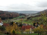Blick Richtung Lauchringen beim Aufstieg zur Küssaburg