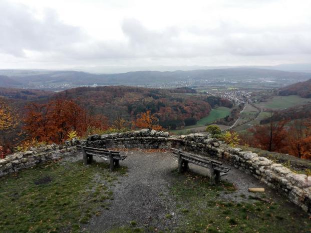 Blick von der Küssaburg Richtung Lauchringen