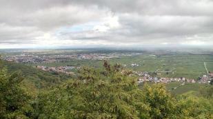 Blick vom Schloss in der Oberrheinische Tiefebene