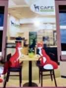Werbetafel am Café Bamby im Bahnhof Titisee