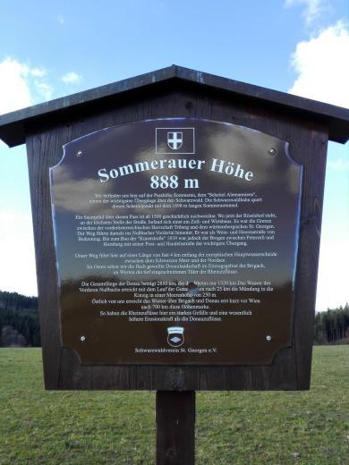 Auf der Sommerauer Höhe bei 888 Meter ü.N.N. Ehemals eine wichtige Schwarzwald-Querung