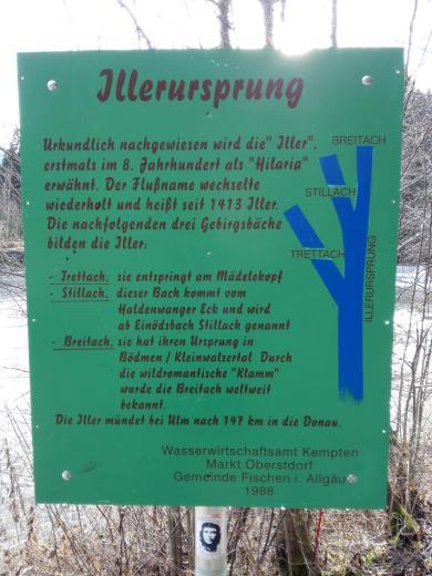 Nördlich von Oberstdorf entspringt die Iller