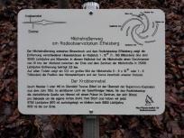 Wir kreuzen den Milchstraßenweg, der beim Radioteleskop in Effelsberg beginnt