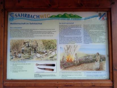 Infotafel Sahrbachtal: Waldwirtschaft