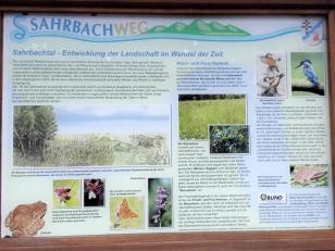 Infotafel Sahrbachtal: Entwicklung der Landschaft im Tal